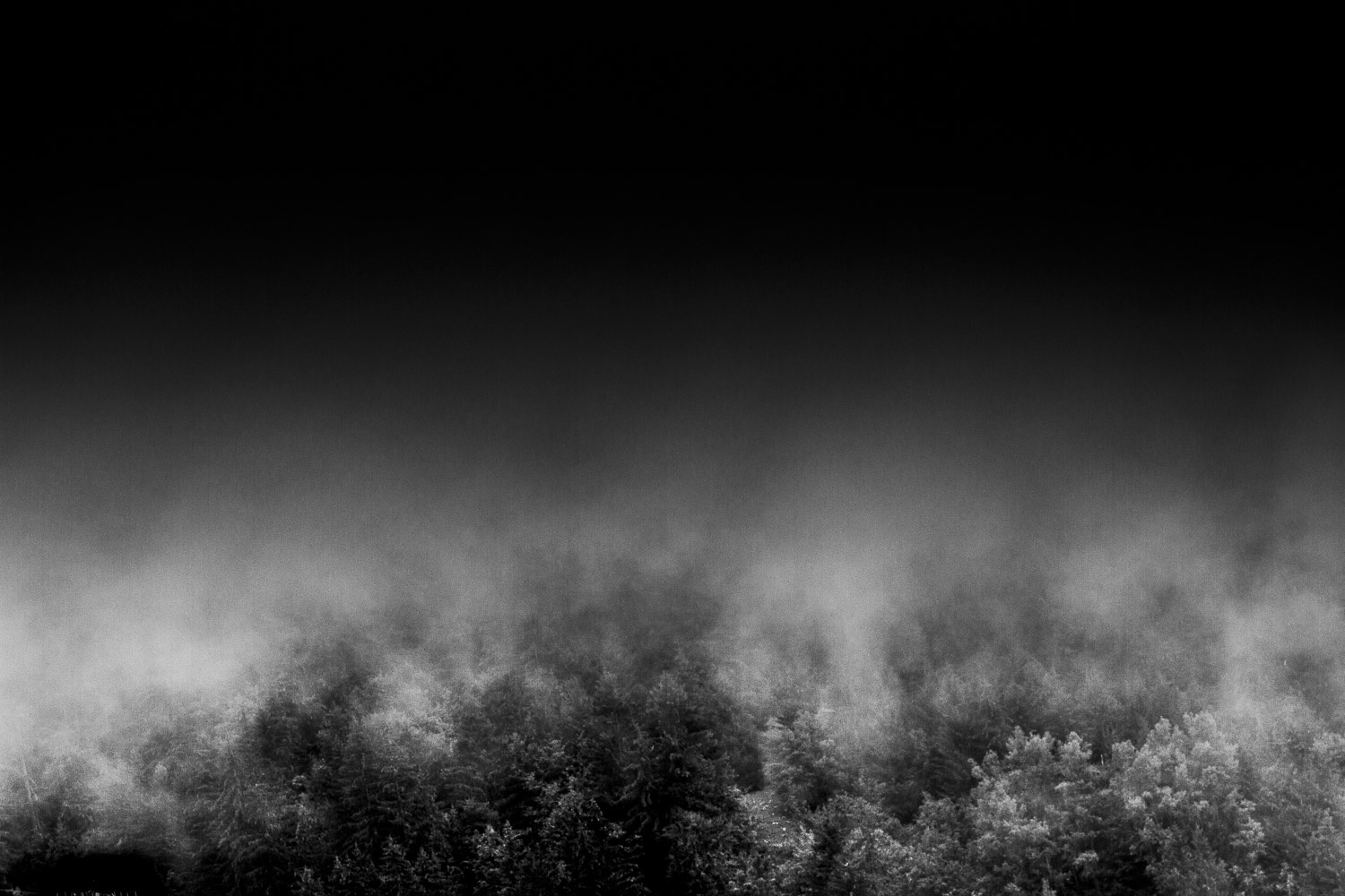 FOG I - Photo de Valmorel dans la brume - Photo d'art édition limitée