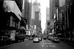Photo noir et blanc de rue de New York City